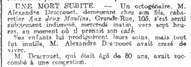 Journal de Roubaix du 08 mars 1907