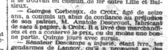 L'égalité de Roubaix - Tourcoing - 01 septembre 1901 - Rubrique Chronique judiciaire