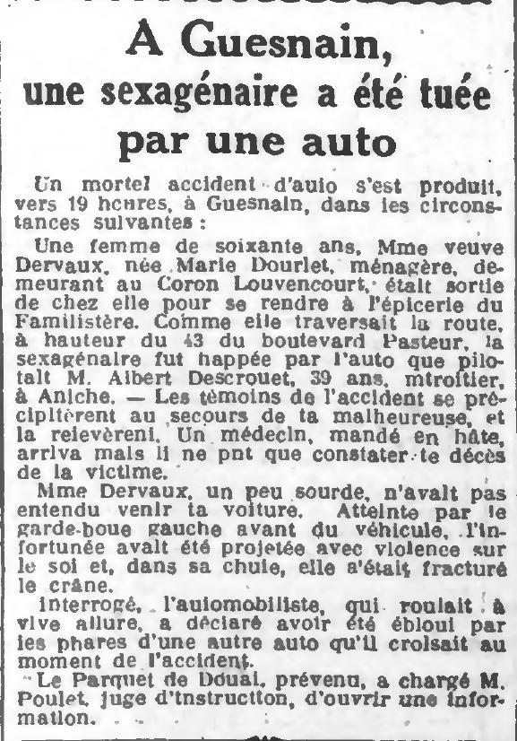 L'égalité de Roubaix-Tourcoing du 02 mars 1929 - En première page