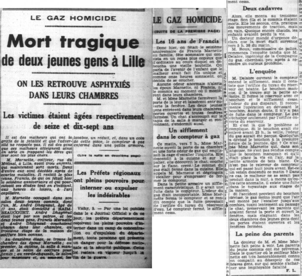 Le réveil du Nord - Edition du 06 novembre 1941