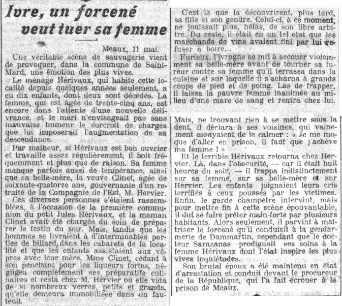 """""""Le Petit Parisien"""" - édition du 12 mai 1910"""