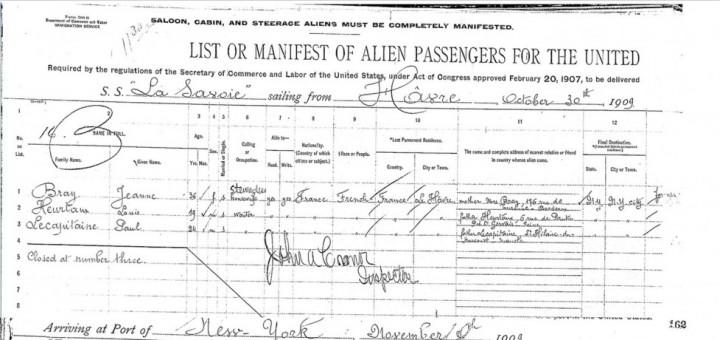 Liste des passagers